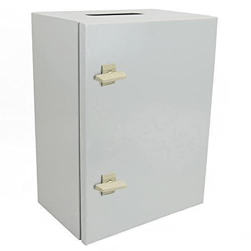 BeMatik - Caja de distribución eléctrica metálica con protección IP65 para fijación a Pared...