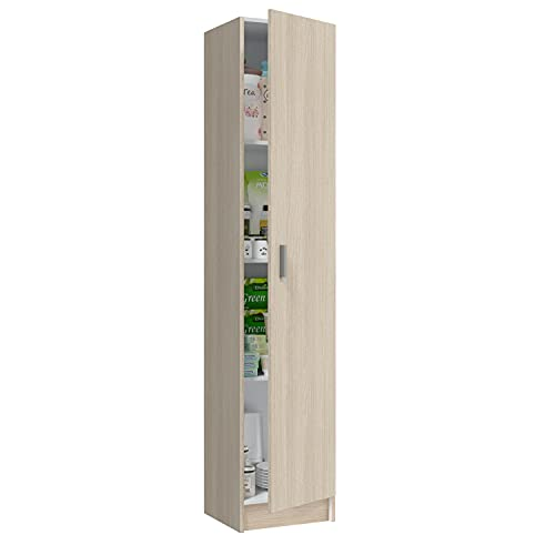 Habitdesign Armario Multiusos, 1 Puerta, Columna, Acabado en Color Roble, Medidas: 37 cm (Ancho) x...
