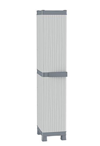 TERRY, Base 2350 RUW, Armario 1 Puerta, 4 Estantes, Gris, 35x43,8x181,8 cm