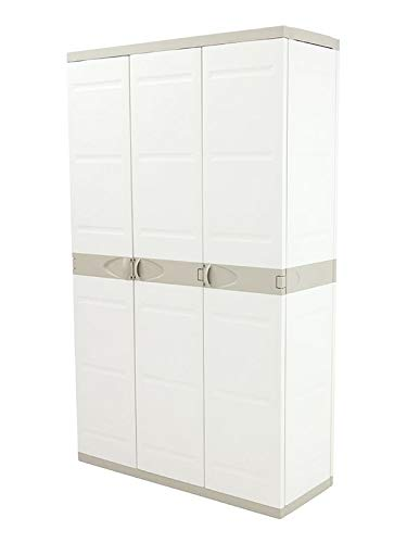 Plastiken Armario TITANIUM 105cm 3 Puertas con (2 puertas con 4 ESTANTES y la tercera puerta tipo...
