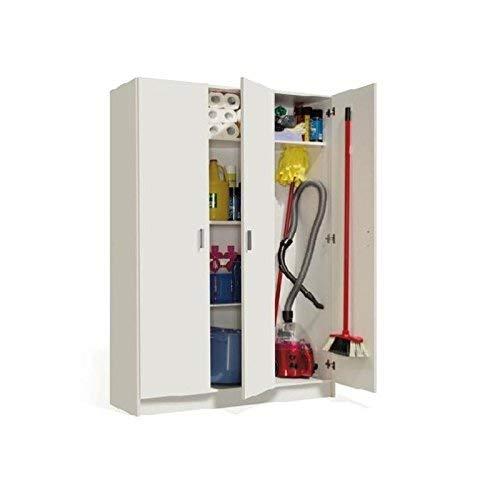 Habitdesign Armario Multiusos, 3 Puertas, Acabado en Color Blanco, Medidas: 109 cm (Ancho) x 180 cm...