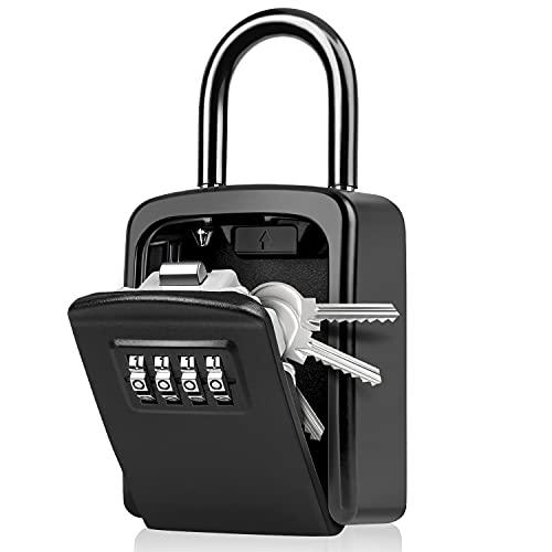 WACCET Caja Seguridad Llaves Combinacion 4 Dígitos Código Caja Fuerte para Llaves con Gancho,...