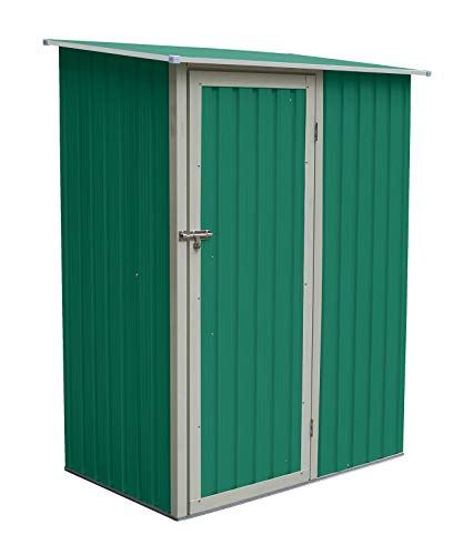 GARDIUN KIS12961 - Armario Newcastle 1.27 m² Exterior 89 x 143 x 186 cm, Verde
