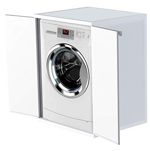 Adventa - Funda para lavadora de resina de PVC (uso interior/exterior), color blanco, 68 x 66 x 88...