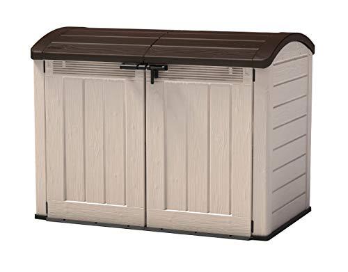 Keter - Cobertizo de jardín exterior Sio Ultra, Capacidad 2000 litros, Color topo/beige